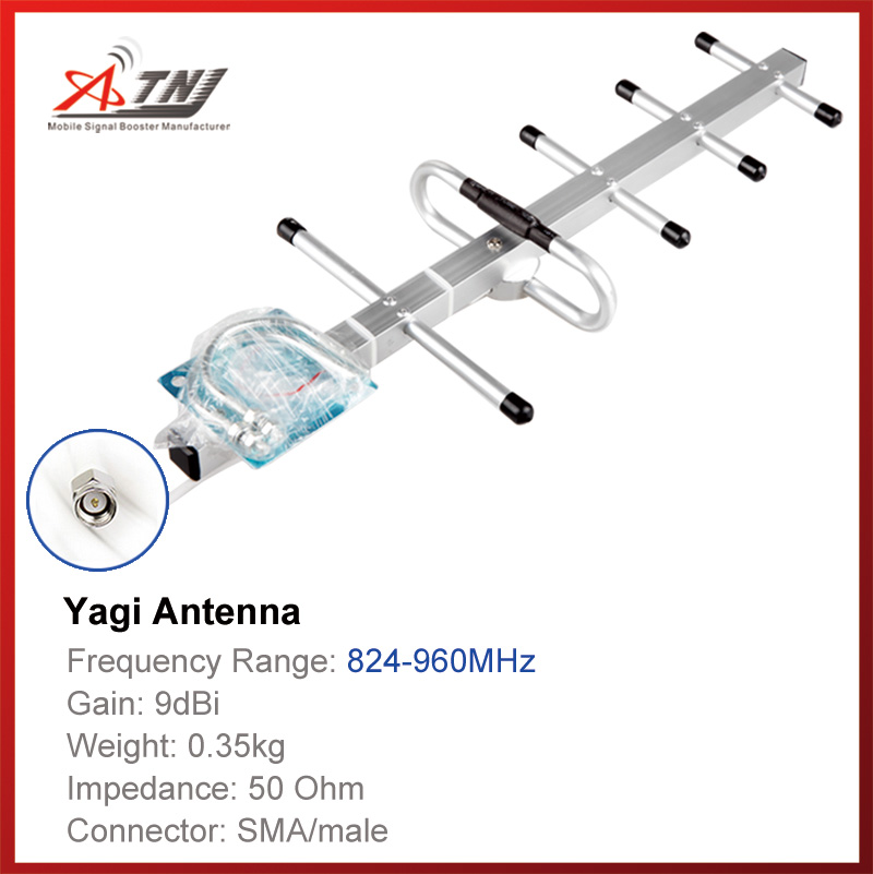 Top Quality+ High Gain 9dbi , ATNJ 800-900mhz Outdoor Yagi Antenna For GSM 2G  3G Signal Booster