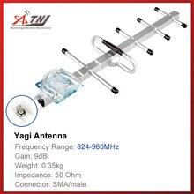 Top qualité + haute Gain 9dbi, ATNJ 800 900 mhz antenne extérieure Yagi pour amplificateur de Signal GSM 2G 3G