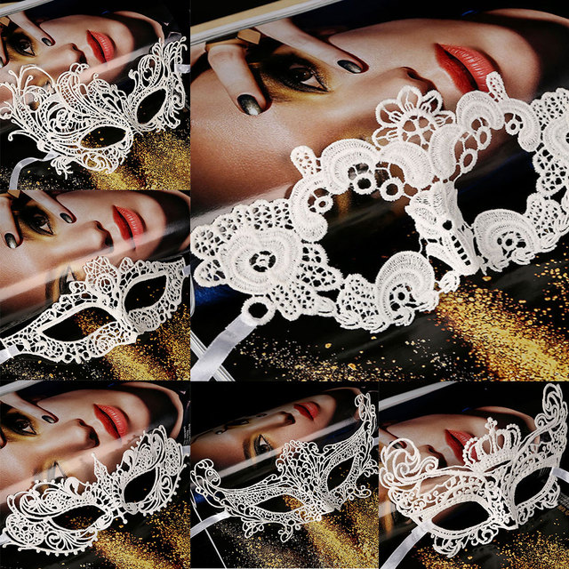 0fa0873128ff6 Sexy Lace Eye Mask Ball Theme Party Prop Fancy Dress Lady Gifts Black Women  Masquerade Halloween Costumes Carnival Mask
