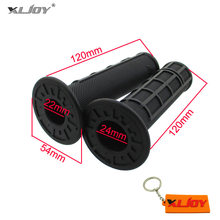 XLJOY สีดำคันเร่ง Handle Grips สำหรับ Pit Dirt Bike Honda CR125 CR250 CR500 XR250 XR400 XR650 Kawasaki KX250 KX250F KX450F(China)