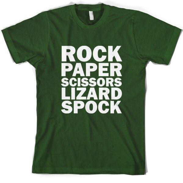 Rock Paper Scissors Lizard Spock Men 39 s T Shirt 10 Colours Print T Shirt Mens Short Sleeve Hot Tops Tshirt Homme in T Shirts from Men 39 s Clothing