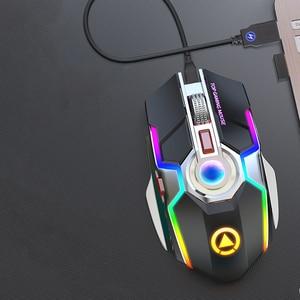 Image 5 - Wireless Gaming Maus Wiederaufladbare Gaming Maus Stille Ergonomische 7 Tasten RGB Backlit 1600 DPI maus für Laptop Computer Pro Gamer