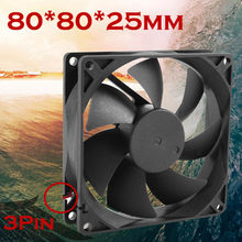 2018 Quiet 8cm/80x70x25mm pc cpu cooler 80 mm fan 12V Computer/PC/CPU Silent Cooling Fan For Radiator Mod for video card(China)