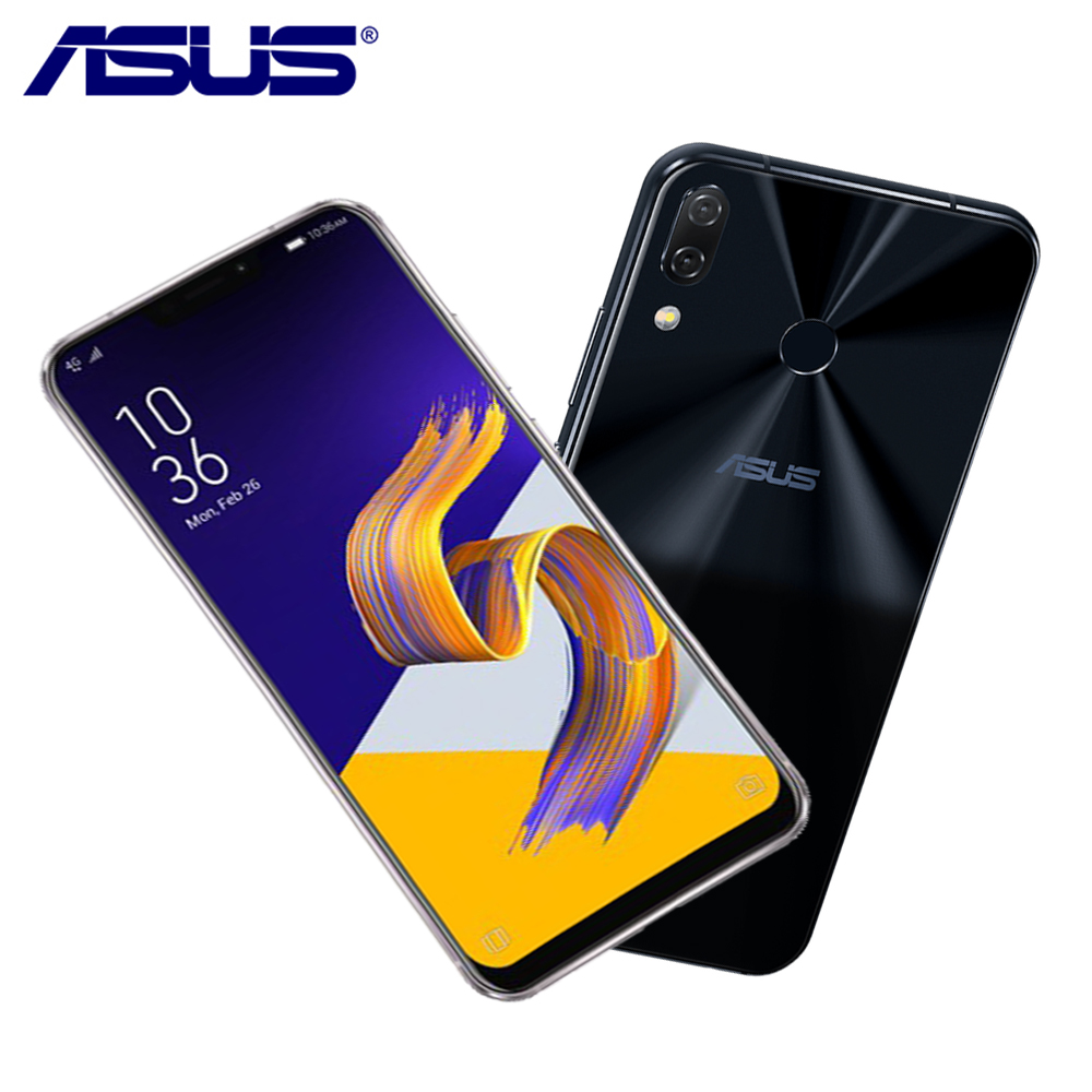 ASUS Zenfone Global 5 ZE620KL 64g ROM 4g RAM 6.2 AI Câmera 19:9 Snapdragon 636 Android 8.0 -tipo C Bluetooth 5.0 LTE Telefone Inteligente