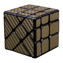 MF8830 Cubing Classroom Carbon Fiber Fisher Cube Twisted Magic Cube Puzzle Toy for Challange – Golden