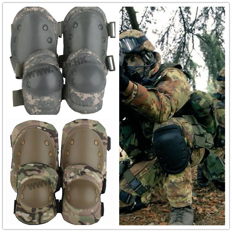 US ARMY Best quality! 4PCS/LOTS Tactical paintball protective gear knee pads & elbow pad ...