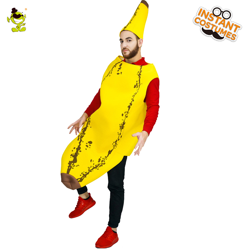 funny banana costumes cute fruits decorations jumpsuit show in halloween carnival role play party for adult - Banana Costume Halloween