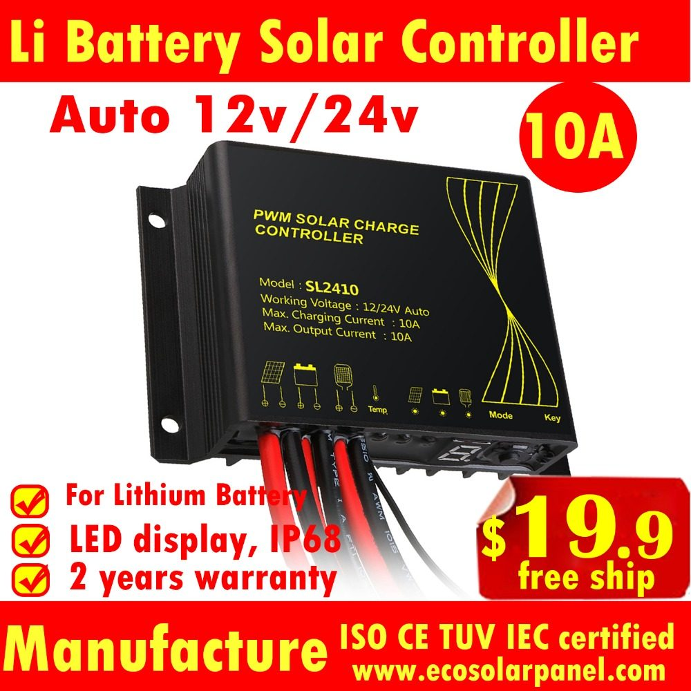 Online Shop German Quality Mppt 10a Solar Charge Controller Led Pwm View Lithium Battery 10a12v 24v Controllersolar Regulator Timer And