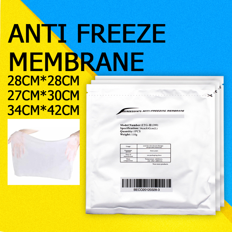 50PC Antifreeze Membrane Mask Film Fat Anti Cooling Gel Pad Cryo Therapy Weight Loss Paper Pad For Cryo Machine