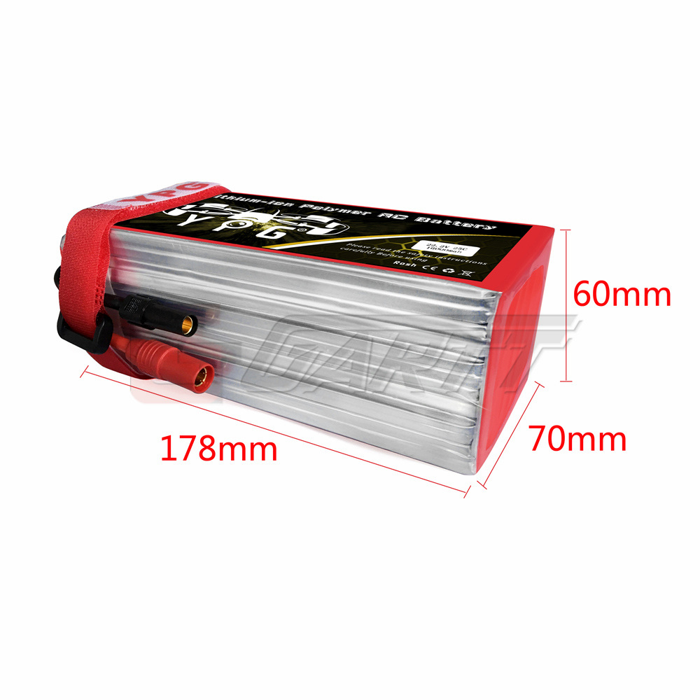 YPG 16000mah 22.2V 25C 6S Grade A Lipo Li-poly Battery For RC Multicopter Octocopter S800 S1000 Airplane Drone gartt ypg 22 2v 1350mah 35c 6s grade a lipo li poly battery for 450l rc helicopter
