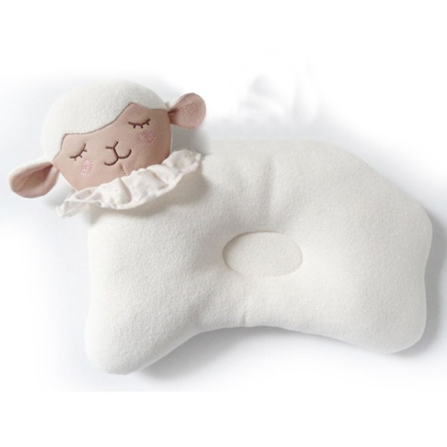 Baby 0-3 Months Unisex Shaping Pillow 100% Organic Cotton Cover 100% Polyester Filling Babies Neck Protection Pillow Animal Lion