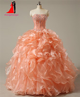 Strapless coral quinceanera dresses 2017 ball gown with crystal beads cheap quinceanera gowns long prom gown.jpg 200x200