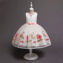 3-10 Yrs Baby Girls Dress Formal Evening Wedding Ball Gown Tutu Princess Dress  Birthday Party Dress Christmas Costume