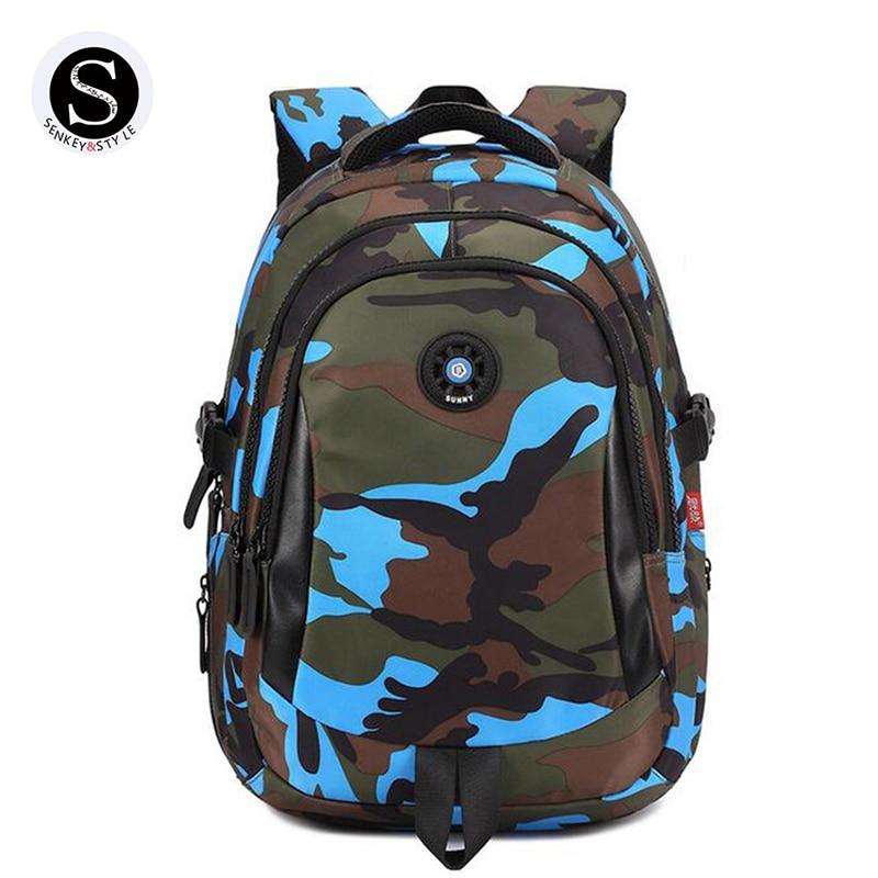 Senkey Style Women Backpack Waterproof Camouflage 2017 Famous Brands Student School Bags For Teenagers Designer Backpack