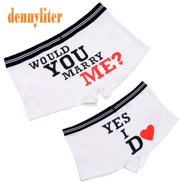 8bd38f7eac DENNYLITER Hot 1 Set Couple Underwear Soft Modal Sexy Panties Cartoon  Underwear Men Cuecas Boxer Men Panties Women Shorts Men