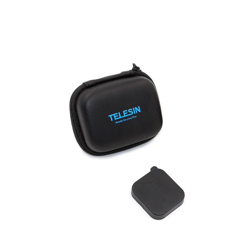 TELESIN Portable Mini Action Camera Bag Pocket Carrying Case for GoPro Accessories for Xiaomi with font