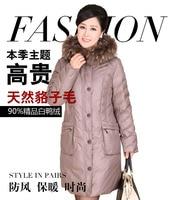 New Women Monther Winter Clothing Coat Jacket down & parka real big fur collar hood plus size xxxl xxxxl xxxxxl WS2107