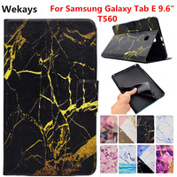 Wekays For Samsung Tab E 9 6 T560 Leather Smart Stand Funda Case For Coque Samsung