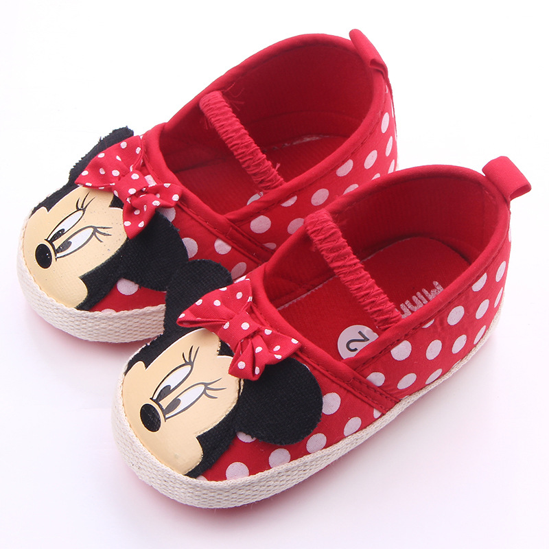 2020 New Style Infant Baby Cartoon Mouse Shoes Toddler Moccasins Soft Bottom First Walkers For 0-18M  Elastic Shoes