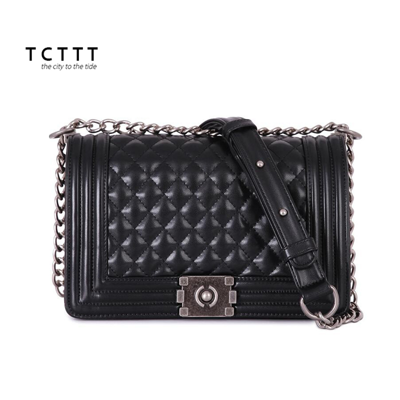 TCTTT Genuine leather Shoulder bag luxury handbags women bags designer Chains soft Crossbody bag for ladies High Quality Totes luxury genuine leather bag fashion brand designer women handbag cowhide leather shoulder composite bag casual totes