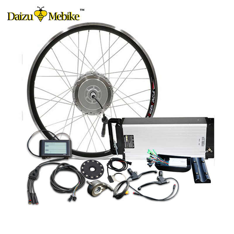 LG48V14A E Bike Kit Electric Bike Conversion Kit for 700c Bike Wheel 48V 500W Brushless Hub Motor Wheel Electric Bicycle Kit