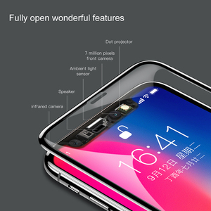 Image 2 - Baseus Screen Protector Tempered Glass For iPhone X 10 4D Surface Full Cover Protection Glass Film For iPhoneX Protective Glass