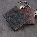 New Arrival Classic  Brand Cowhide Genuine Leather Fashion Design  Short style Men Wallet Factory Price On Promotion