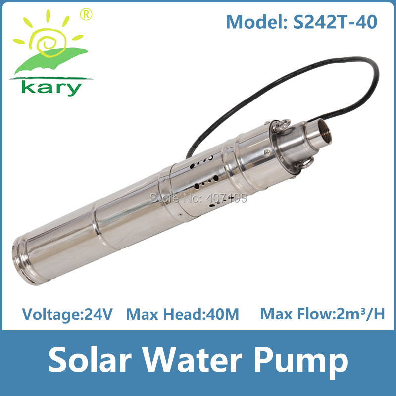 цена на lift 40m for deep well,2000l per hour rate dc 24v 284w solar water pump with smart controller