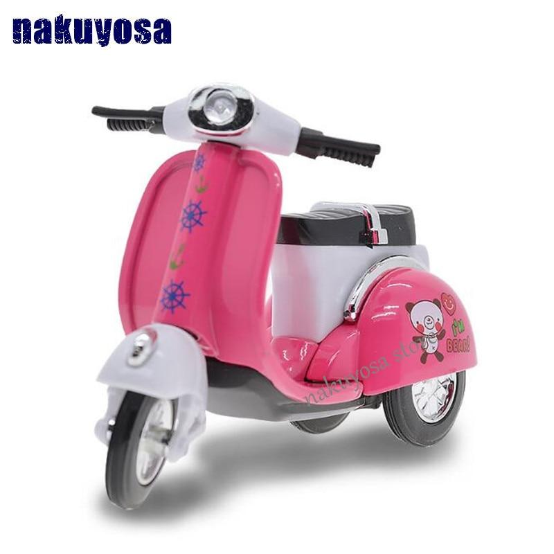 1:64 Mini Q Styels Alloy Female Motorcycle Model Child Favorite Super Cute Pull Back Car Toys