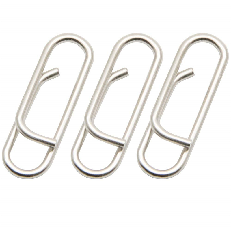 Clips de acero inoxidable de 100 piezas Clip rápido en Clips de pesca conector fácil y rápido cambio de señuelo broches para agua dulce agua salada