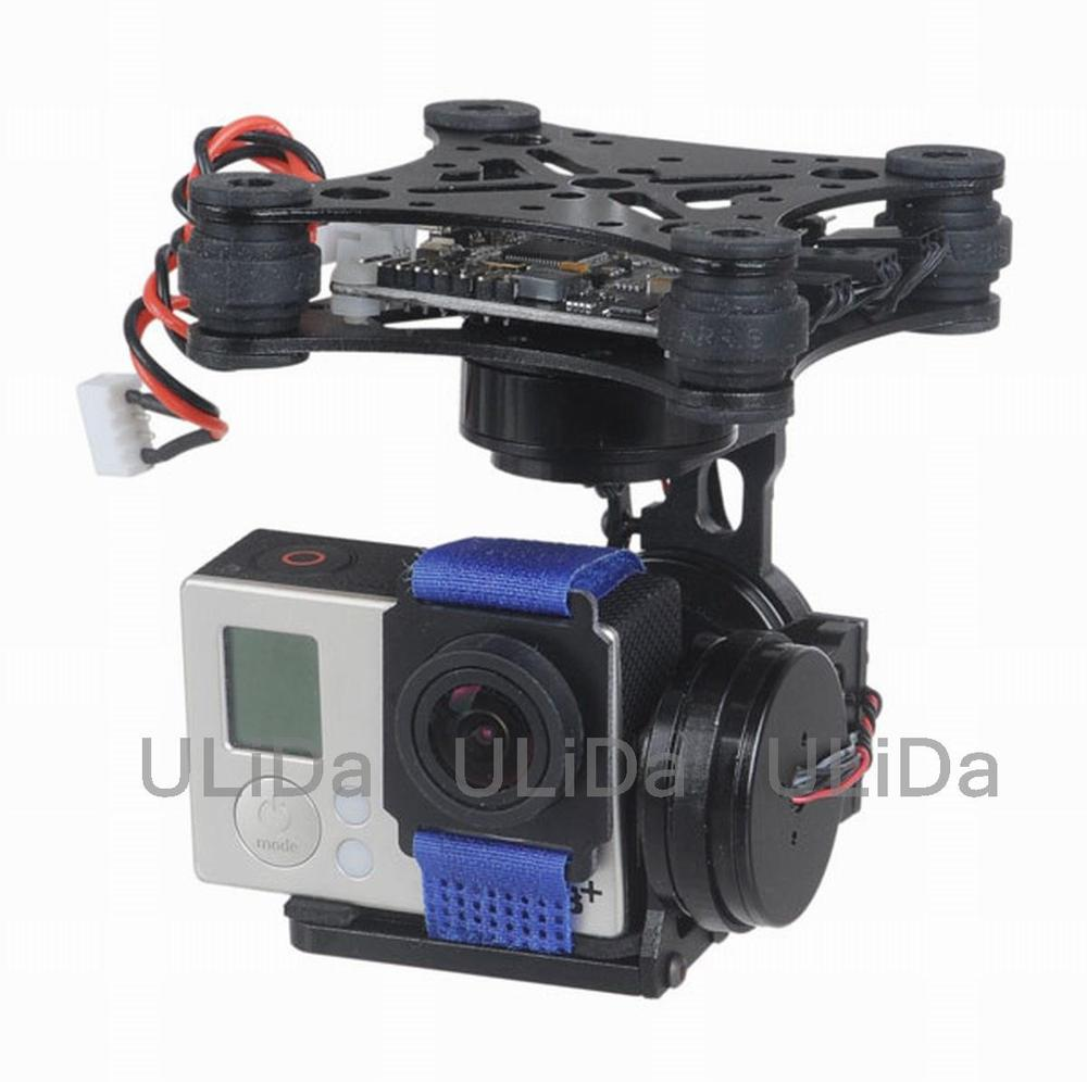 3-Axis Brushless Gimbal Camera Mount & 32bit Storm32 Controller Gopro 3 4 FPV fpv 3 axis cnc metal brushless gimbal with controller for dji phantom camera drone for gopro 3 4 action sport camera only 180g
