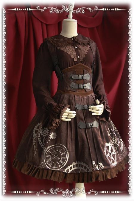2016 HOT filles quotidien Lolita robe élégant Steampunk Corset broderie JSK doux Lolita robe S-XL