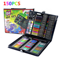 150pcs Children's Drawing Painting Sketching Tools Set Watercolor Pen Crayon Oil Pastel Paint Brush Drawing Pen for Art Student