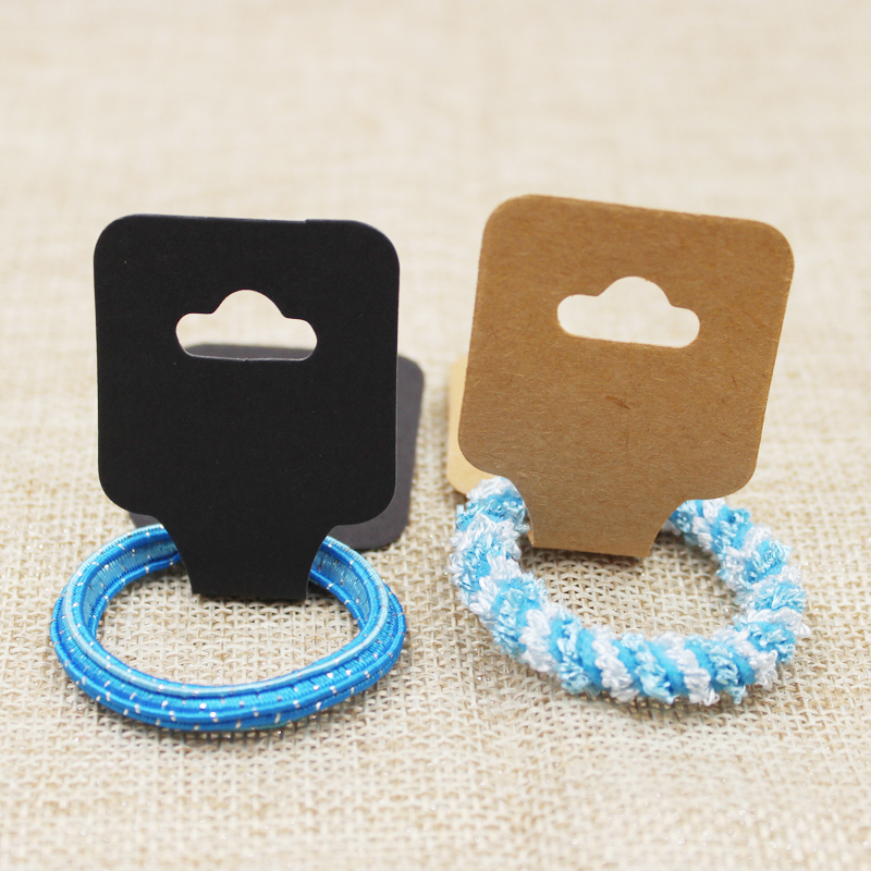 200pcs White/kraft/black handmade necklace jewelry dispaly card cardboard hair ornaments folded display package card
