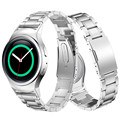20mm de alta qualidade durável famosa faixas de relógio de aço inoxidável + pulseira elo de ligação para samsung gear s2 rm-720 correa reloj