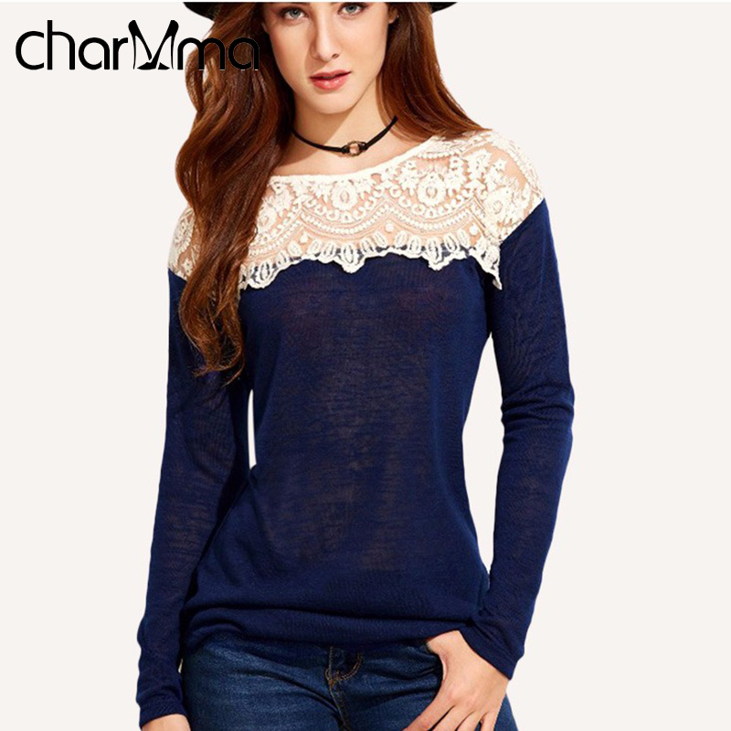 Charmma 2016 Autumn Girls Casual Blouses Stylish Tops -5866