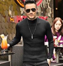 Herren strick Stilvolle Rollkragenpullover Pullover Männlich Slim Fit Elastischen Pullover Baumwolle Bodenbildung Pullover 2016 Neue frühling