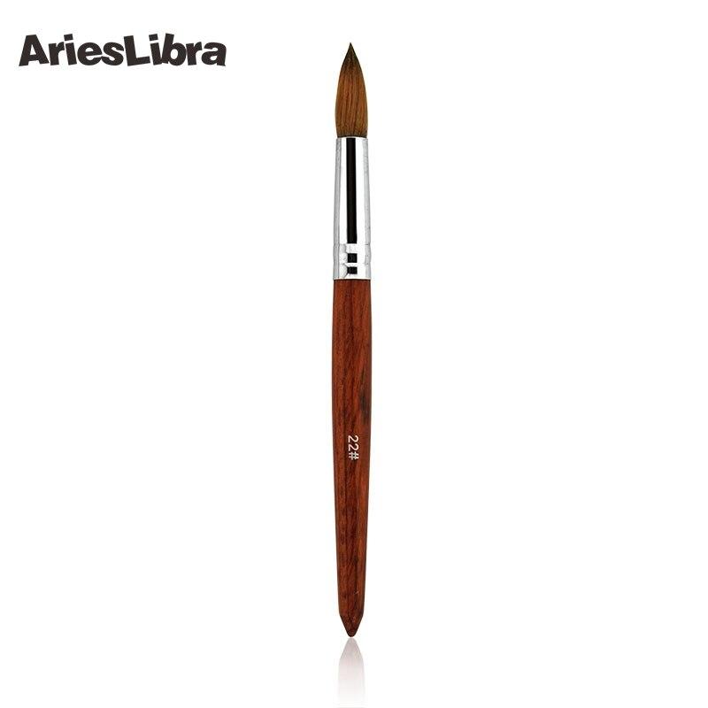 AriesLibra 5 pcs/ensemble 22 # 100% Acajou Sable art d'ongle acrylique Builder Brush Spirale Gel Stylo Conseils Outil Professionnel Nail Outils