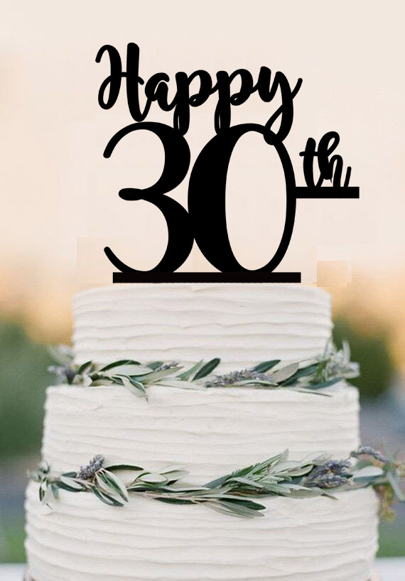 30th Birthday Cake Topper Happy 30th Acrylic Cake Topper