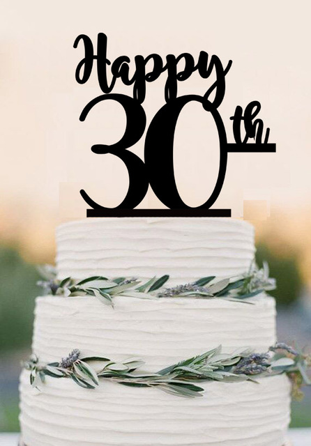 30th birthday Cake TopperHappy 30thacrylic cake topper 30th