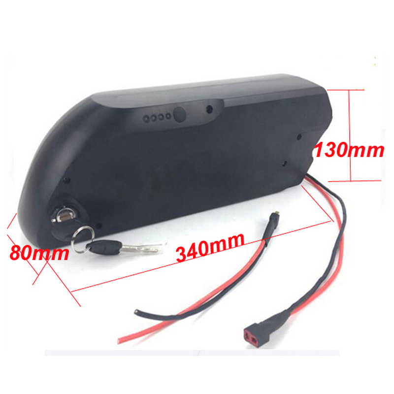 52V 1000W TigerShark lithium ion battery pack 51.8V 10Ah Electric Bike battery with USB fit for 48V 1000W 8FUN Bafang motor kit