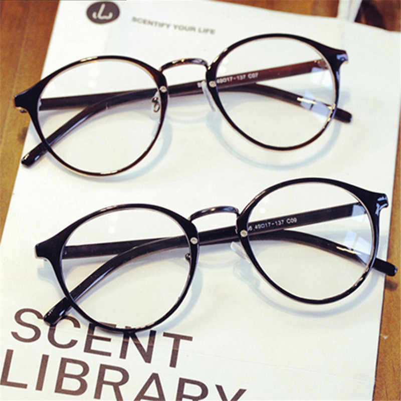 7531e277d17 ... Fashion Transparent round glasses clear frame Women Spectacle myopia  glasses Men EyeGlasses Frame nerd optical frames