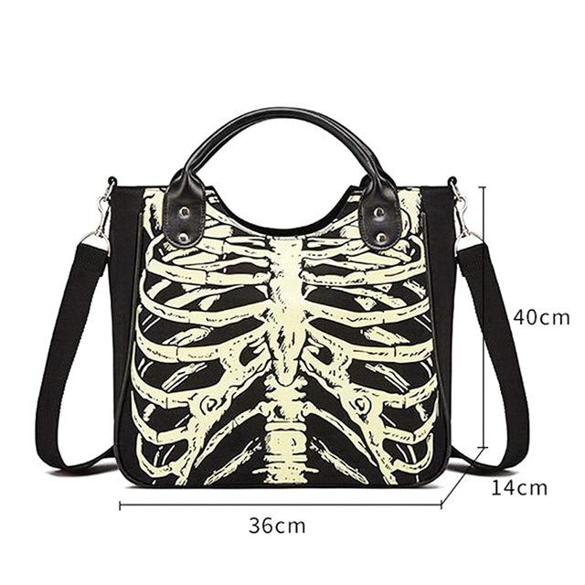 Skeleton Bones Skulls Tote Bag
