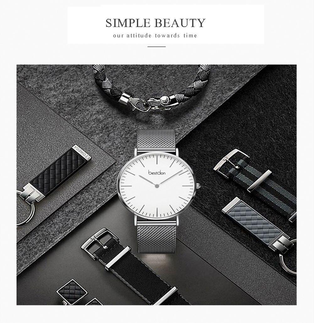 luxo relógio quartzo à prova dwaterproof água relogio