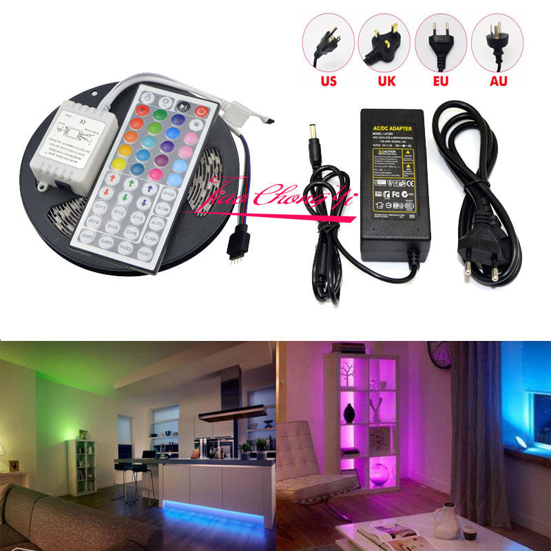 все цены на 10M 5050 RGB LED Strip light IP65 with 44keys IR Controller +12V 8A Power онлайн