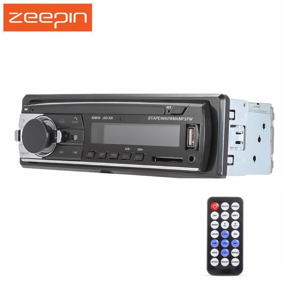 Bluetooth Car MP3 Player Audio estéreo 4X60 W Car Radio 12 V In-dash 1 Din FM Aux Input receptor USB SD tarjeta Auto Radio música reproducción