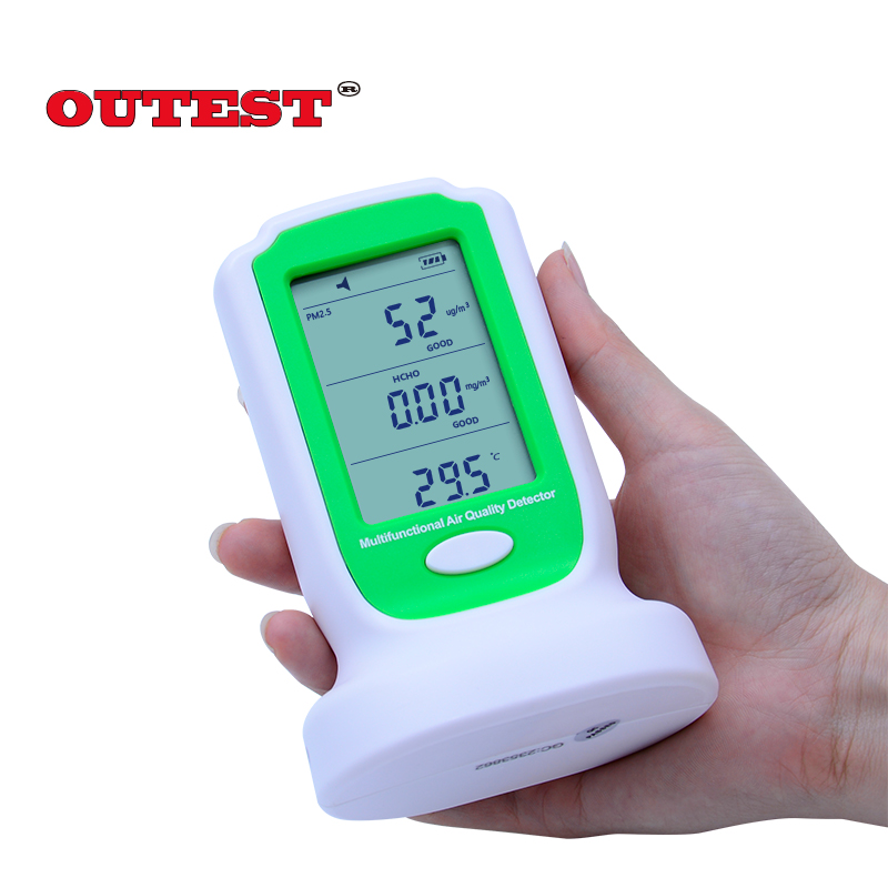 GM8804 Digital formaldehyde detector HCHO PM2.5 PM10 gas detector formaldehyde monitor air quality meter 0-5000ug/m3 gas analyzers hand held gas detector formaldehyde air quality monitor