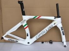 Cipollini כביש אופני פחמן מסגרת 3 K RB1K מירוץ אופניים מערךמסגרות T1000 פחמן כביש מסגרת מזלג + Seatpost + מהדק + אוזניות