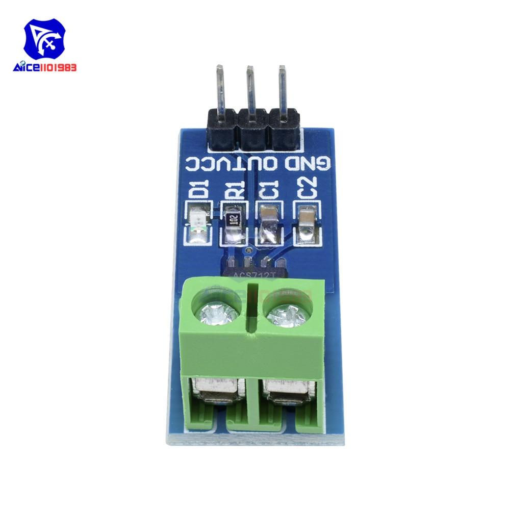 1 Piece Hall Current Sensor Module ACS712 for Arduino with 5A/20A/30A Hall  Current Transduce Module ACS712 for Arduino