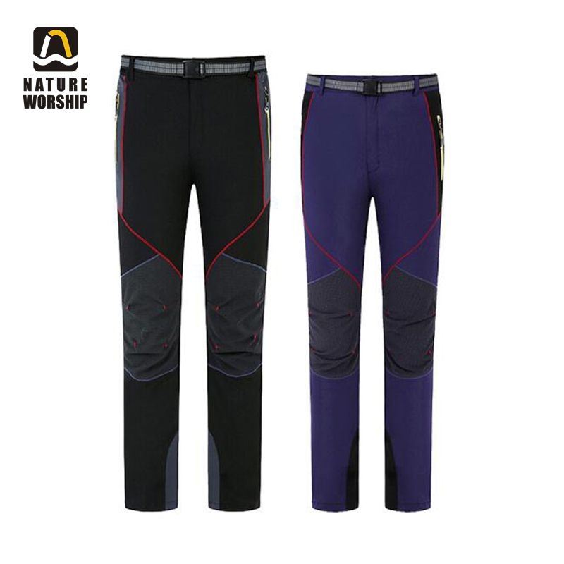 Outdoor Women Men Summer Spring Hiking Quick-Dry Pants Zipper Waterproof Thin Breathable Slim Climbing Fishing Sports Trousers colorful brand large size jeans xl 5xl 2017 spring and summer new hole jeans nine pants high waist was thin slim pants